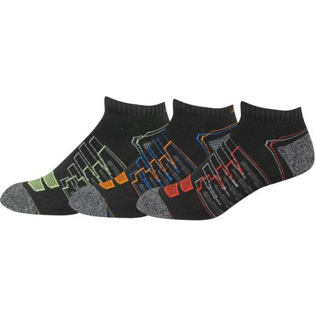 New Balance Mens 3-pk. Black Low Cut Socks