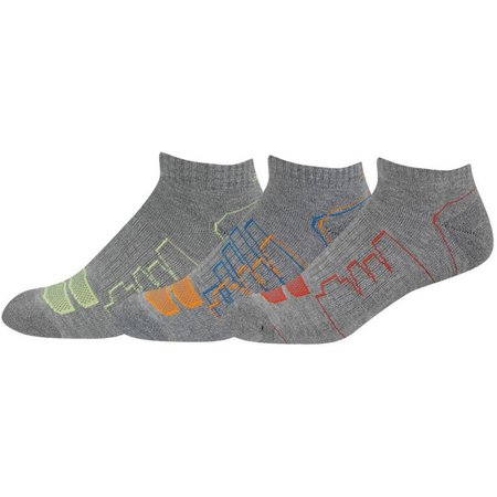 New Balance Mens 3-pk. Grey Low Cut Socks