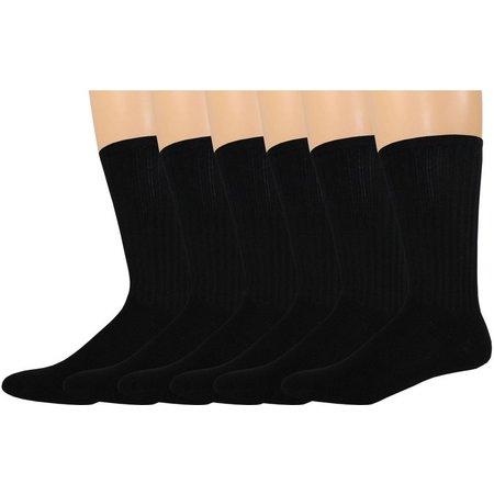 Dockers Mens 6-pk. Black Sport Crew Socks