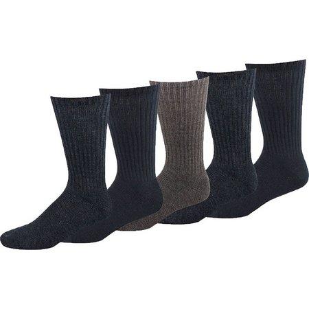 Dockers Mens 5-pk. Logo Sport Crew Socks