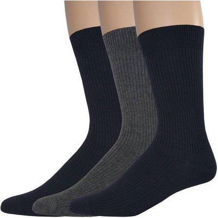 Dockers Mens 3-pk. Lightweight Rib Crew Socks