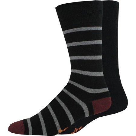 Dockers Mens 2-pk. Stripe Crew Socks