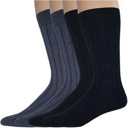 Dockers Mens 4-pk. Wide Rib Crew Socks