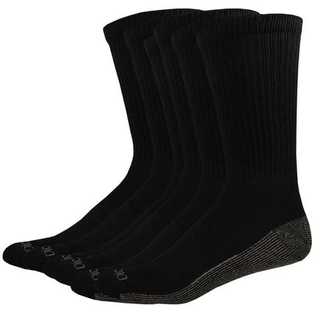 Dickies Mens 6-pk. Dri Tech Black Crew Socks