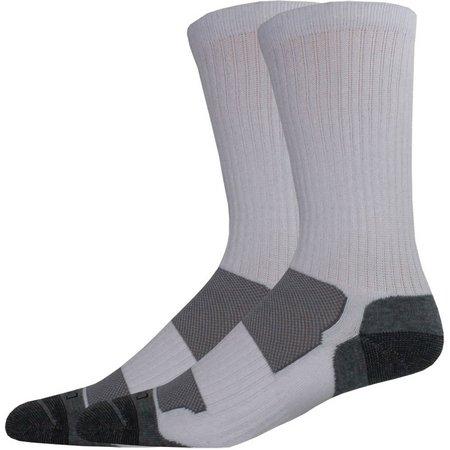 Dickies Mens 2-pk. Sorbtek White Crew Socks