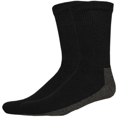 Dickies Mens 2-pk. Non-Binding Black Crew Socks