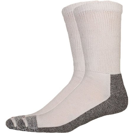 Dickies Mens 2-pk. Non-Binding White Crew Socks