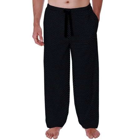 IZOD Mens Diamond Print Drawstring Pajama Pants