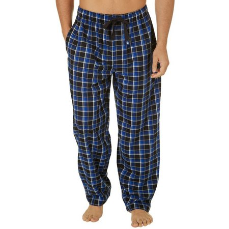 IZOD Mens Plaid Woven Pajama Pants