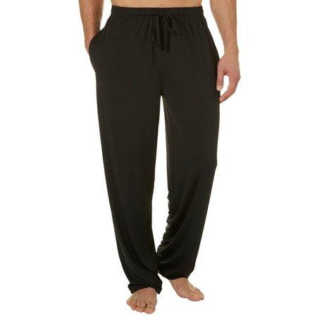 IZOD Mens Suede Jersey Solid Pajama Pants