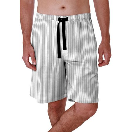 Geoffrey Beene Mens Broadcloth Stripe Pajama Shorts
