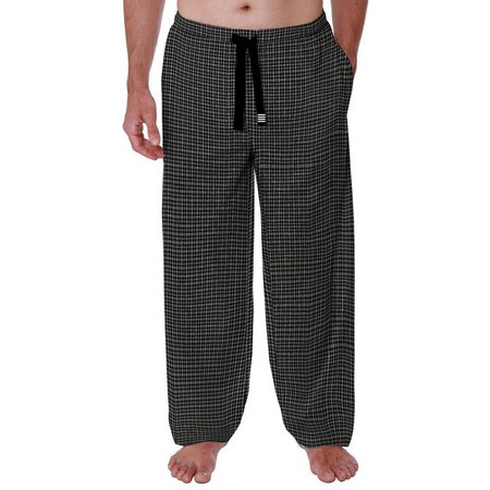 Geoffrey Beene Mens Broadcloth Plaid Pajama Pants