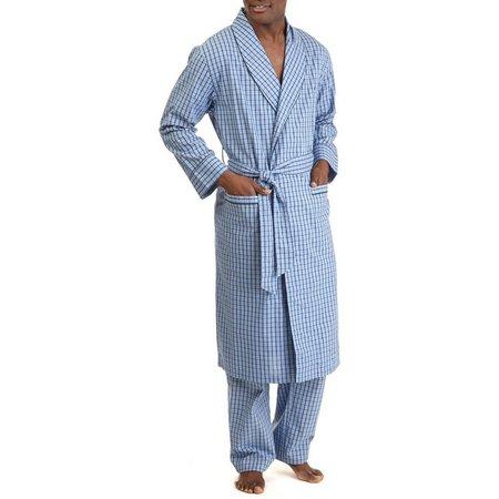 Nautica Mens Anchor Plaid Robe