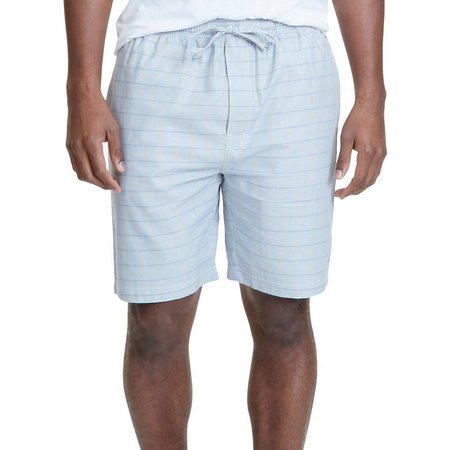 Nautica Mens Herringbone Plaid Pajama Shorts