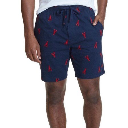 Nautica Mens Lobster Print Pajama Shorts