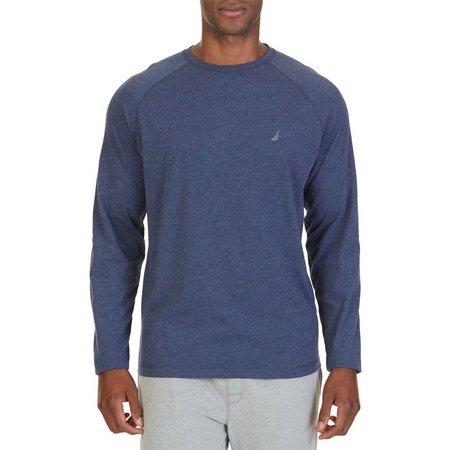 Nautica Mens Crew Neck Solid Pajama Top