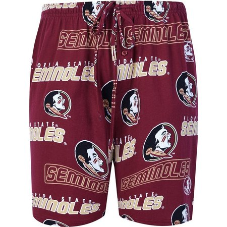 Florida State Mens Knit Logo Pajama Shorts