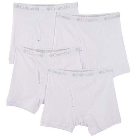 Columbia Mens 4-pk. White Stretch Boxer Briefs