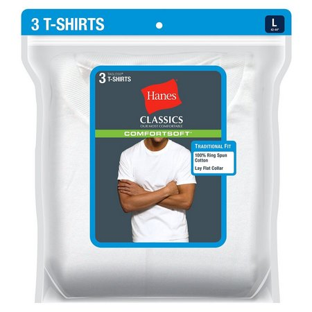 Hanes Mens 3-pk. Solid Crew Neck T-Shirts