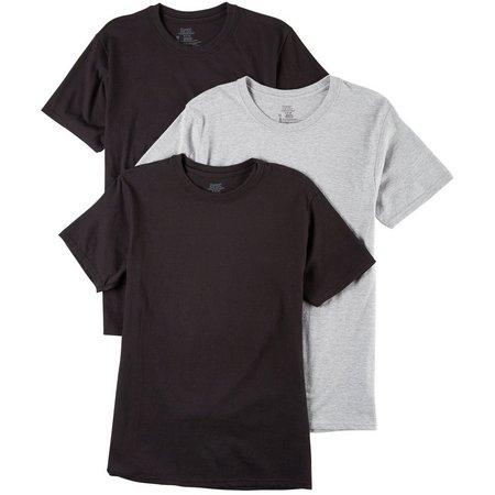Hanes Mens 3-pk. Multi Crew Neck T-Shirts