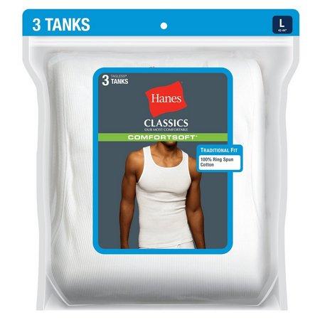 Hanes 3-pk. White Tank Top Undershirts