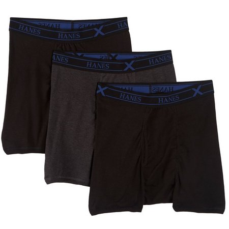 New! Hanes Mens 3-pk. X-Temp Ultimate Boxer Briefs