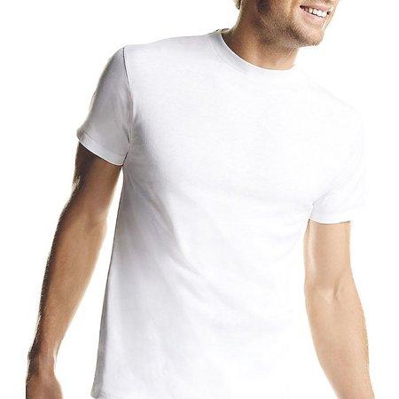 Hanes Mens 7-pk. White Crew Neck T-Shirts