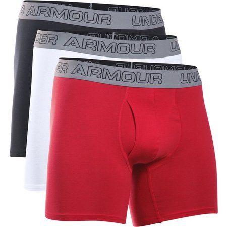 Under Armour Mens 3-pk. Charged Boxerjocks