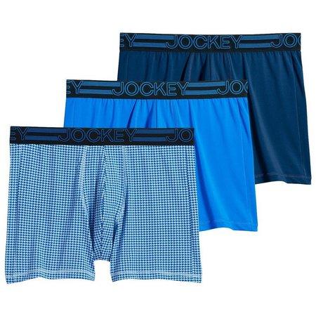 Jockey Mens 3-pk. Blue Active Boxer Briefs