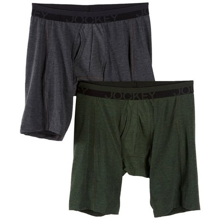 Jockey Mens 2-pk. Green & Grey Midway Briefs