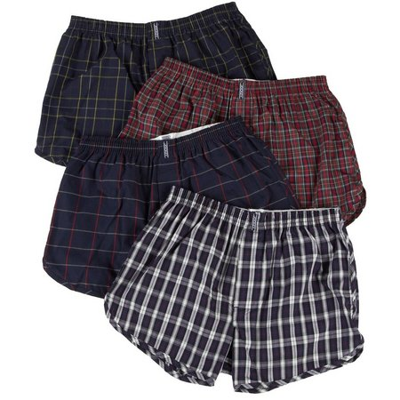 Jockey 4-pk. Plaid Classic Tapered Boxers