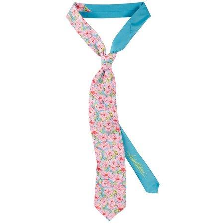 Amber Moran Mens Hibiscus Tie