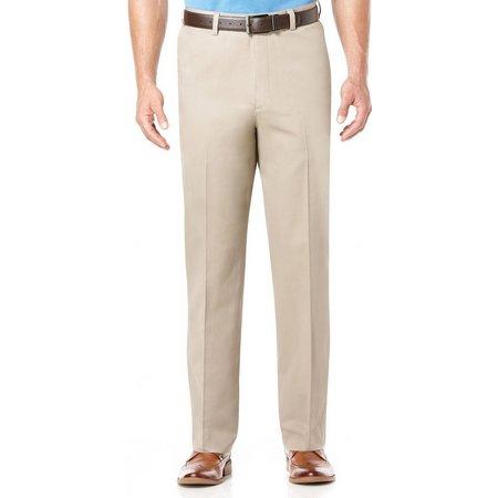 Savane Mens No-Iron Performance Flat Front Pants