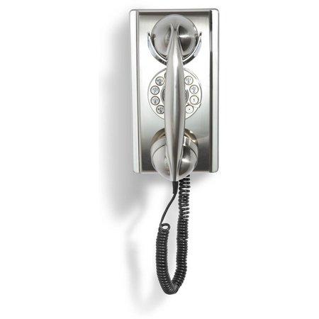 Crosley Radio Brushed Chrome Wall Phone