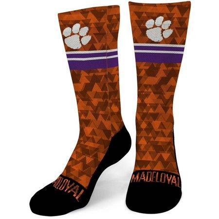 Clemson Tigers Mens Swift Performance Crew Socks