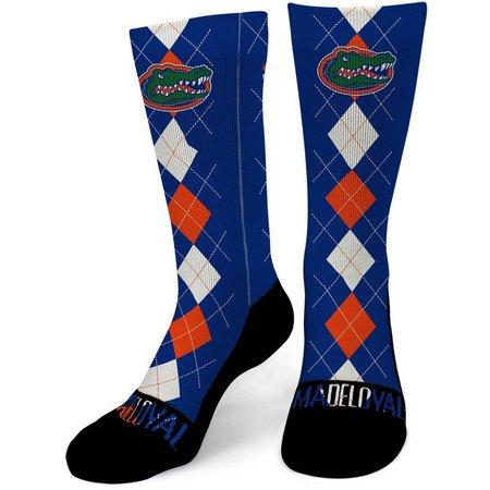 Florida Gators Mens Argyle Performance Crew Socks