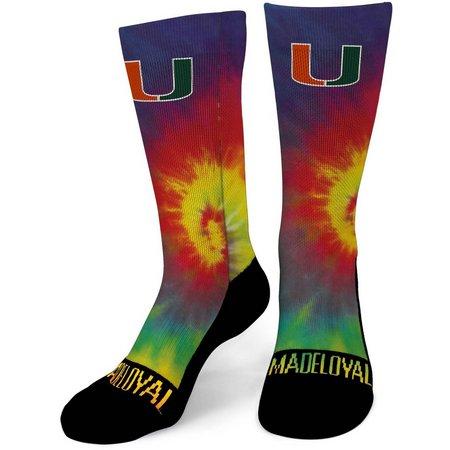 Miami Mens Tie Dye Performance Crew Socks
