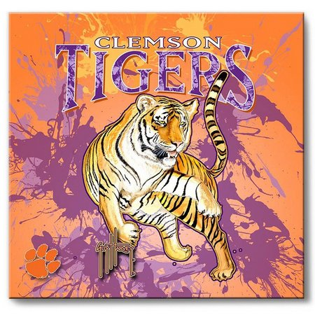 Clemson Tigers 12'' x 12'' Wall Art by