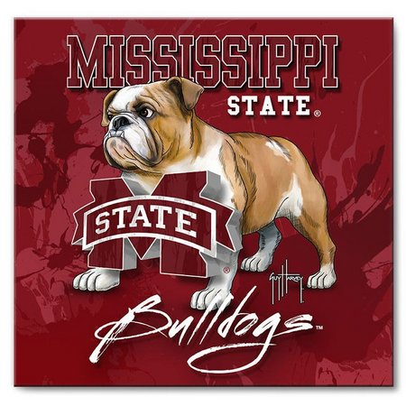 Mississippi Bulldogs 12'' x 12'' Art by Guy