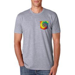 New! UCF Knights Mens Tie Dye Pocket T-Shirt