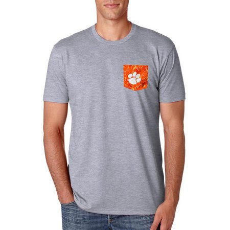 Clemson Tigers Mens Cabana Pocket T-Shirt