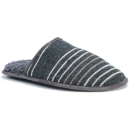 Muk Luks Mens Knit Stripe Slippers