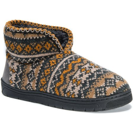 Muk Luks Mens Mark Vintage Fairisle Boot Slippers