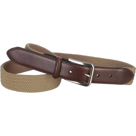 Boca Classics Khaki Fabric Stretch Belt