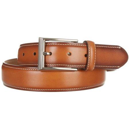 New! Boca Classics Mens Feather Edge Tan Belt