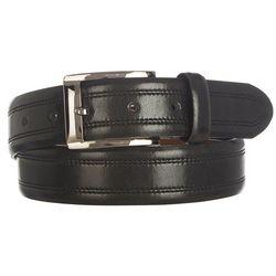 IZOD Mens Double Stitch Leather Belt