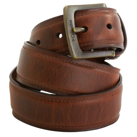Columbia Mens Rugged Leather Belt