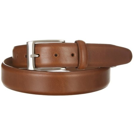 New! Dockers Mens Dark Taupe Leather Belt