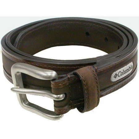 Columbia Mens Brown Leather Belt