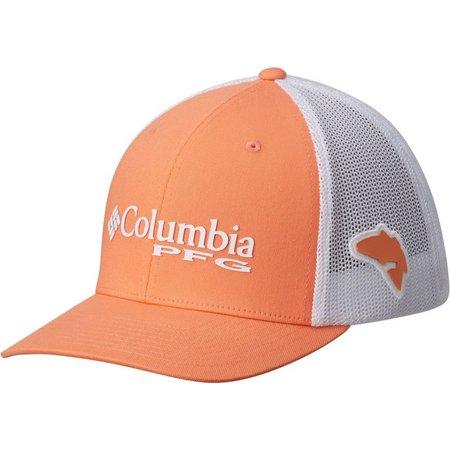 Columbia Mens PFG Mesh Peach Redfish Hat